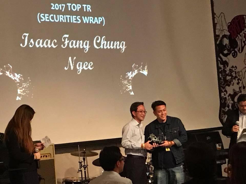 2017 Top TR for Securities Wrap Isaac Fang CFA