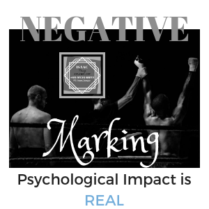 Psychological impact of negative marking in investment trading