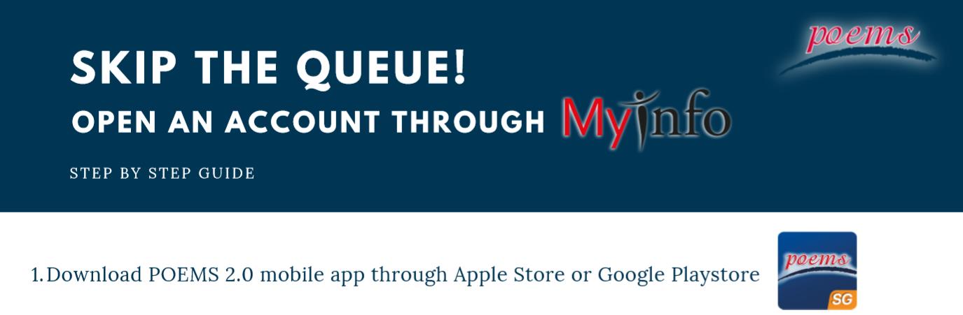Account Opening using MyInfo