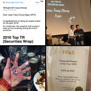 Awards given to Isaac Fang CFA