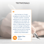 Isaac Fang CFA Securities Advisory Service Testimonial